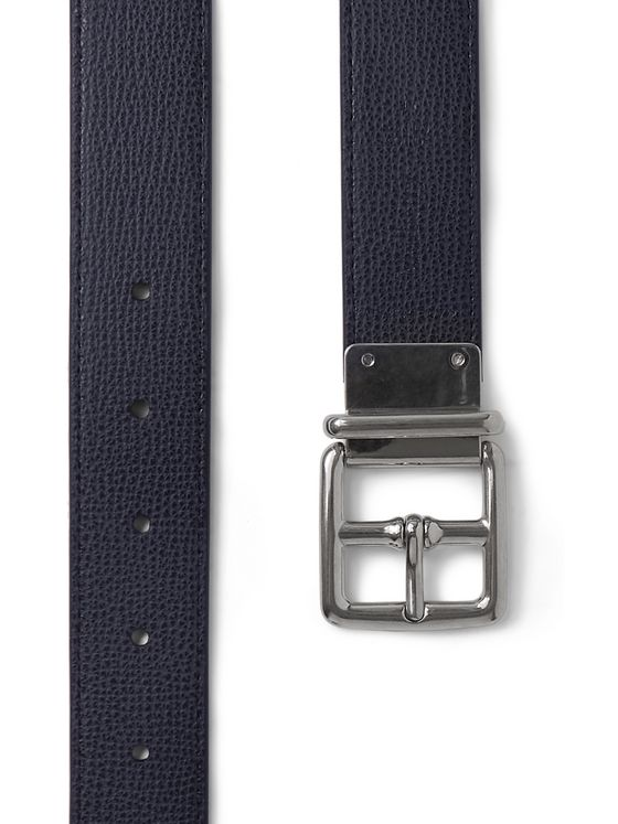 Mulberry Reversible Cross-Grain Leather Belt