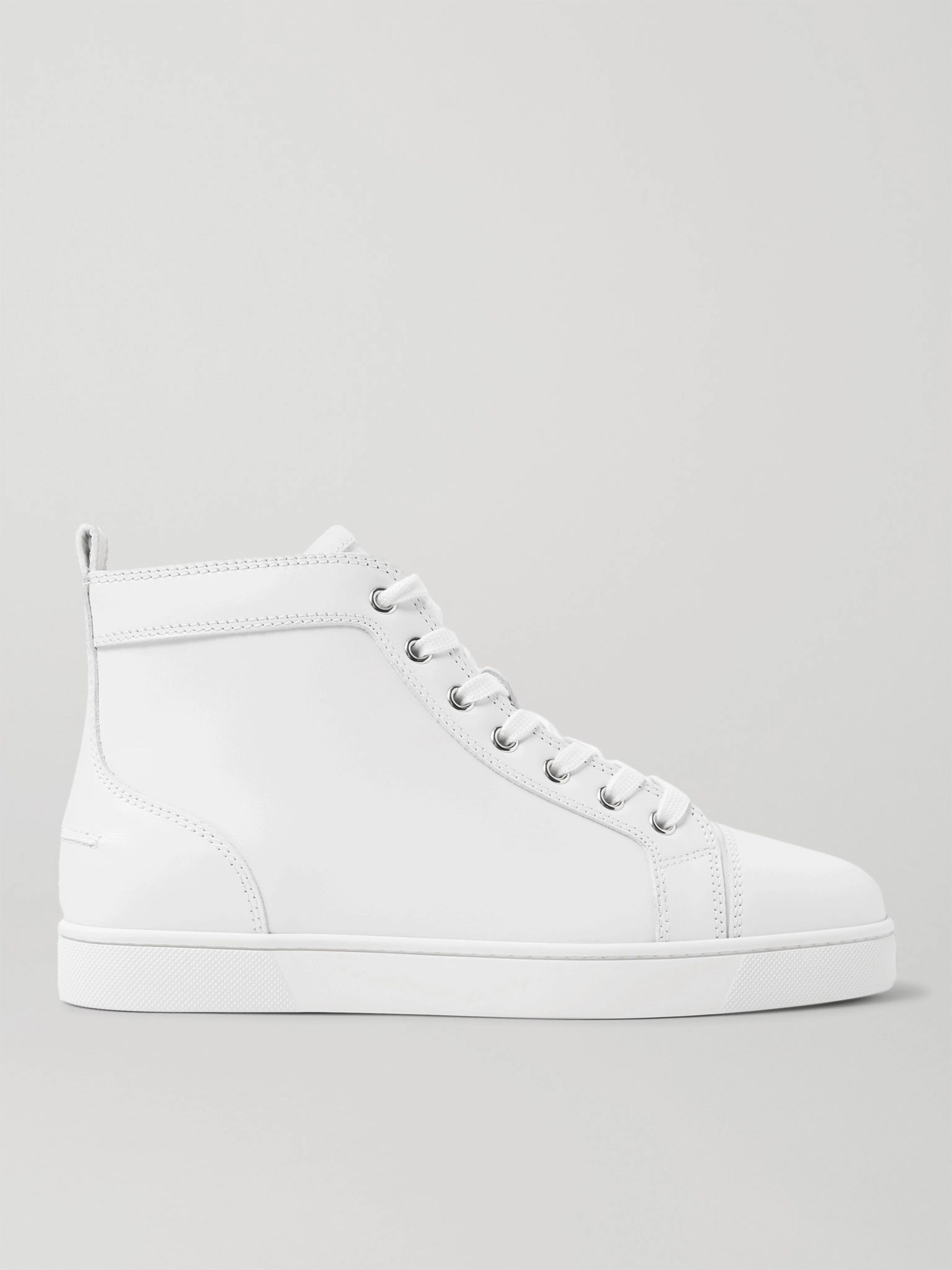 Christian Louboutin Louis Leather High-Top Sneakers