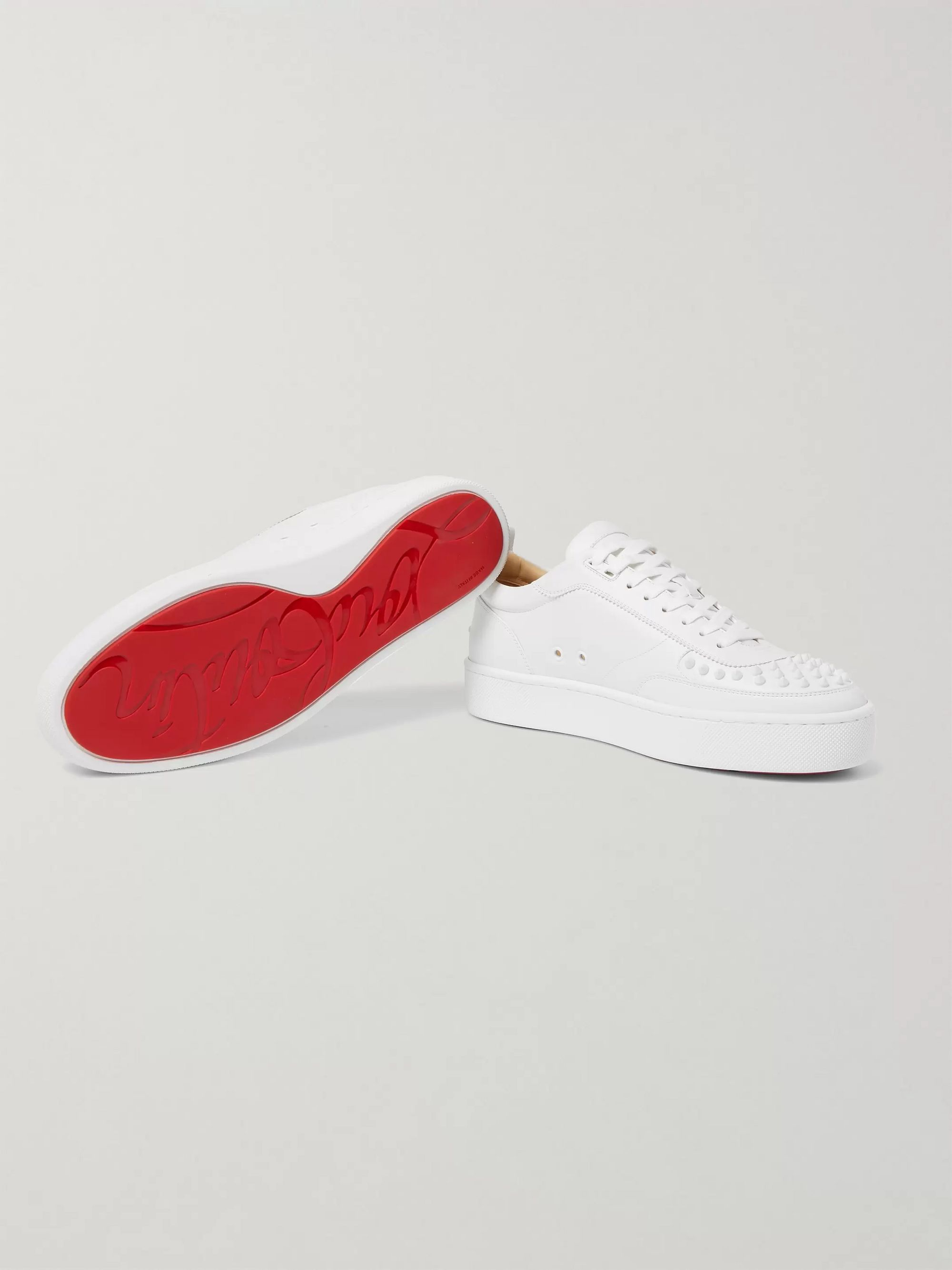 Christian Louboutin Happyrui Spiked Leather Sneakers