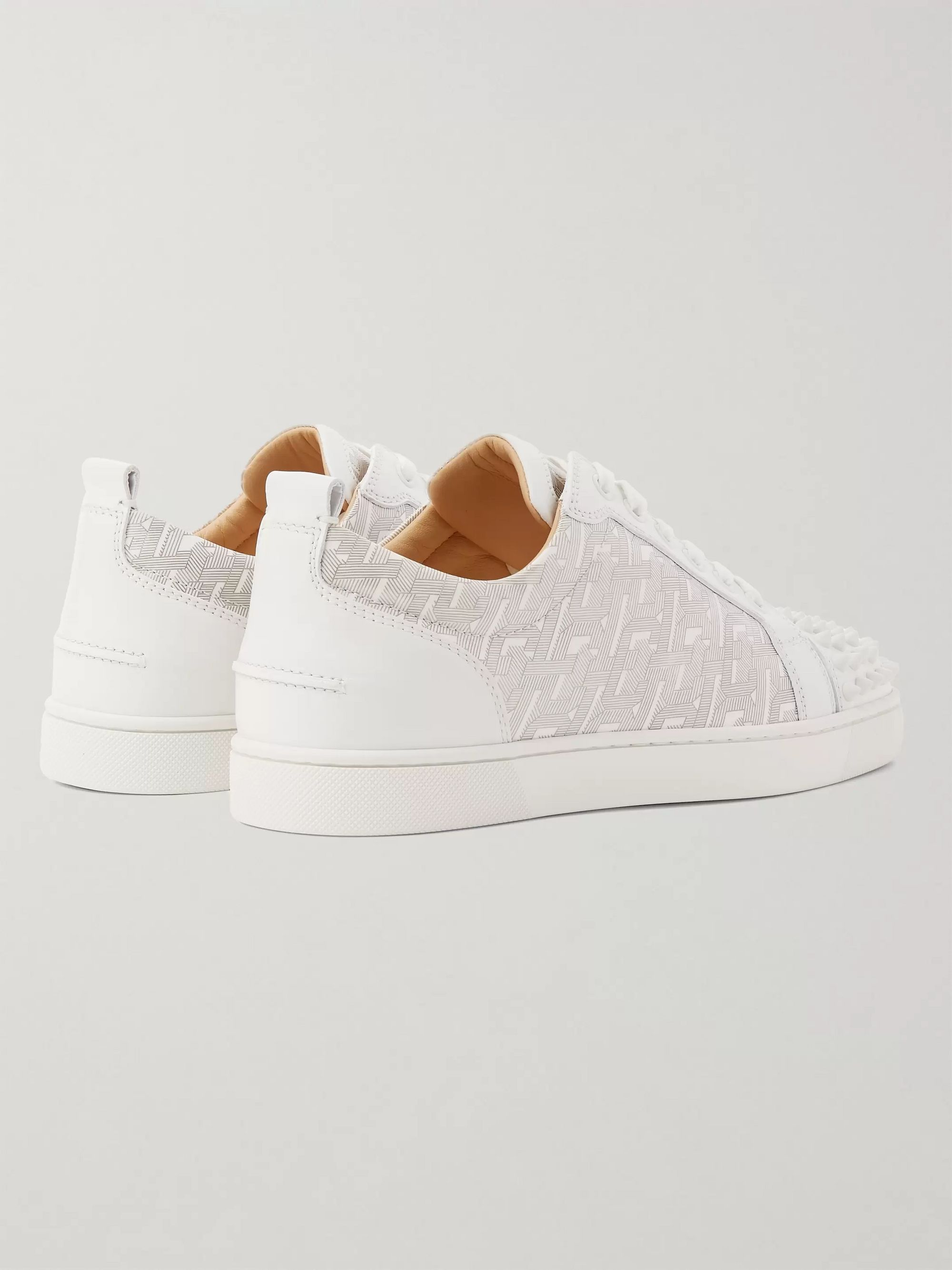 Christian Louboutin Louis Junior Spikes Printed Leather Sneakers