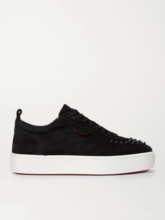 CHRISTIAN LOUBOUTIN Happyrui Spiked Suede Sneakers