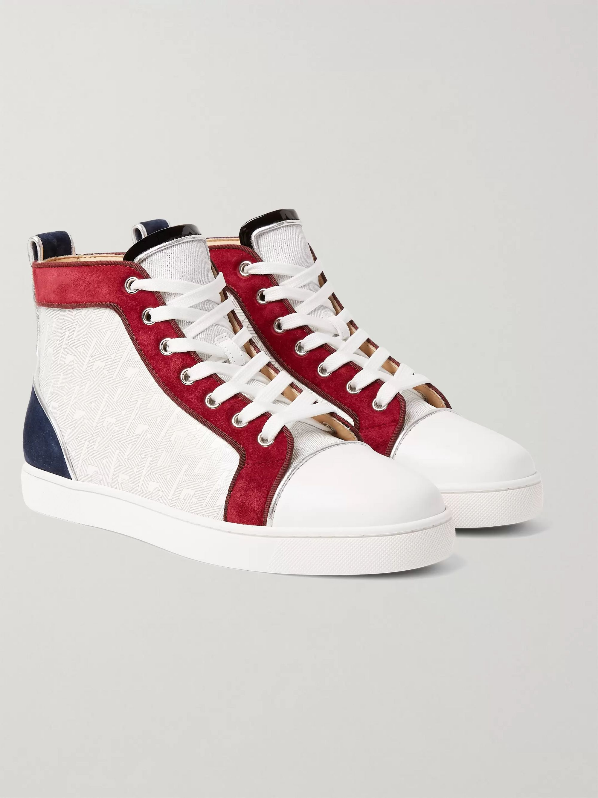 White Louis Orlato Suede, Leather and