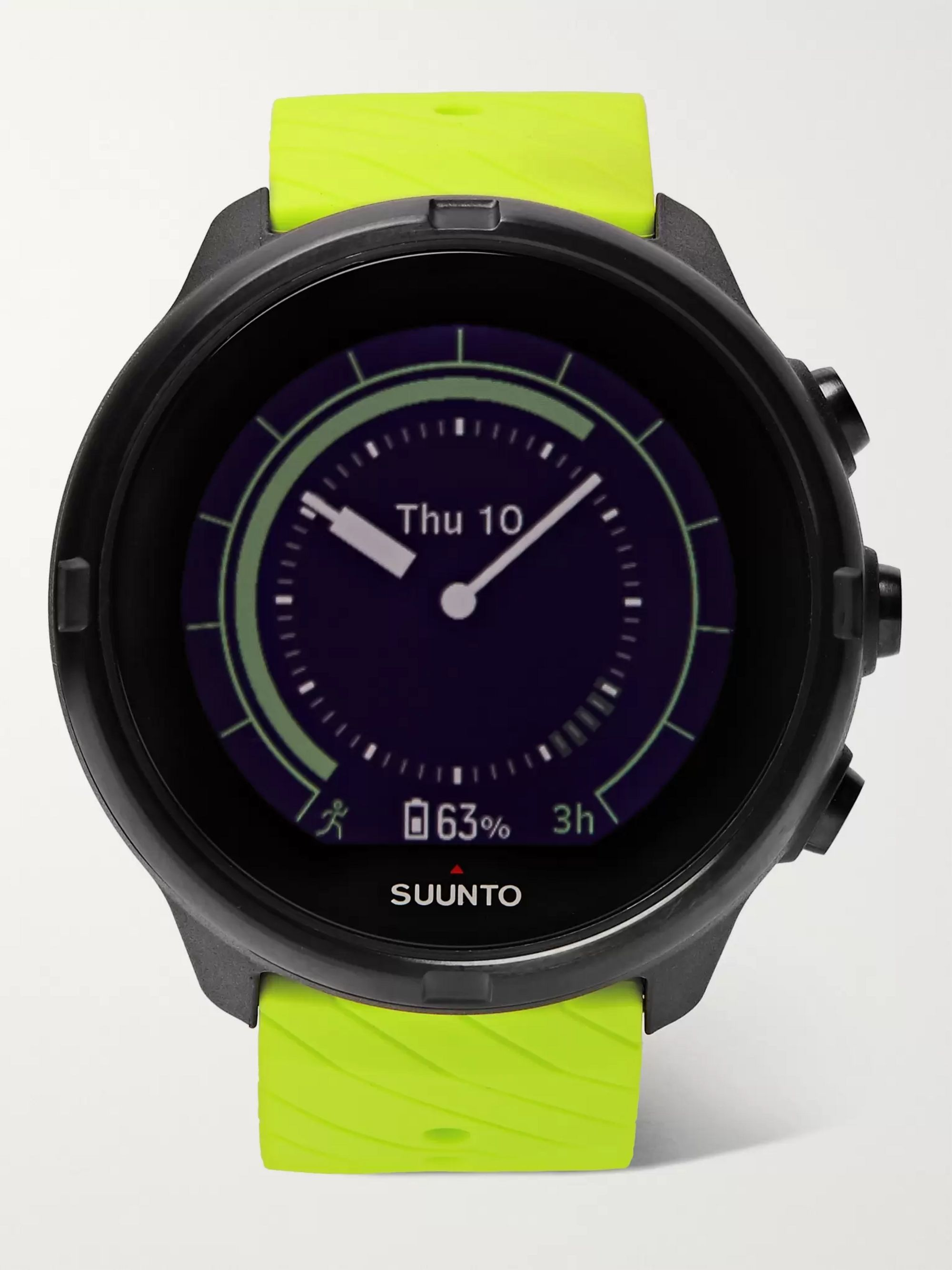 Suunto 9 G1 GPS 50mm Stainless Steel and Neon Silicone Smart Watch