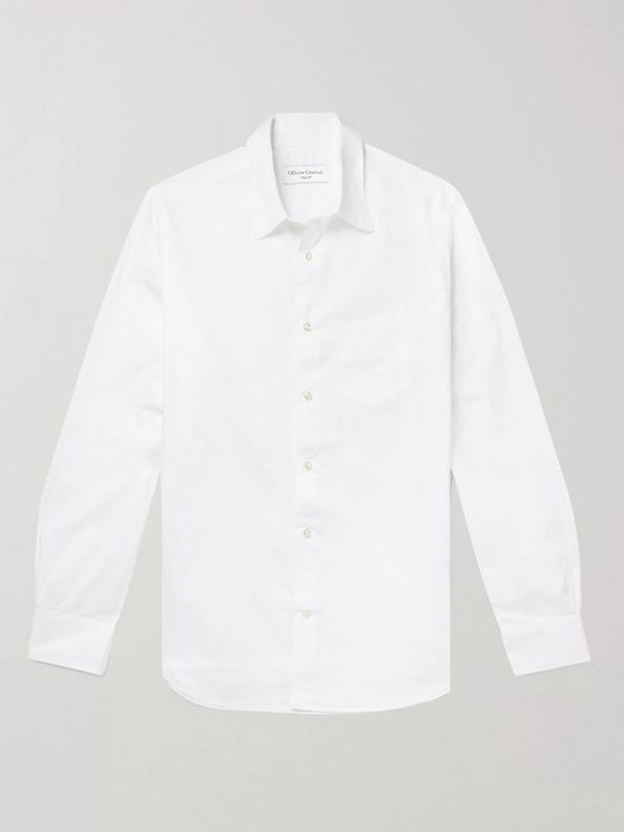 OFFICINE GÉNÉRALE Benoit Slim-Fit Cotton-Poplin Shirt