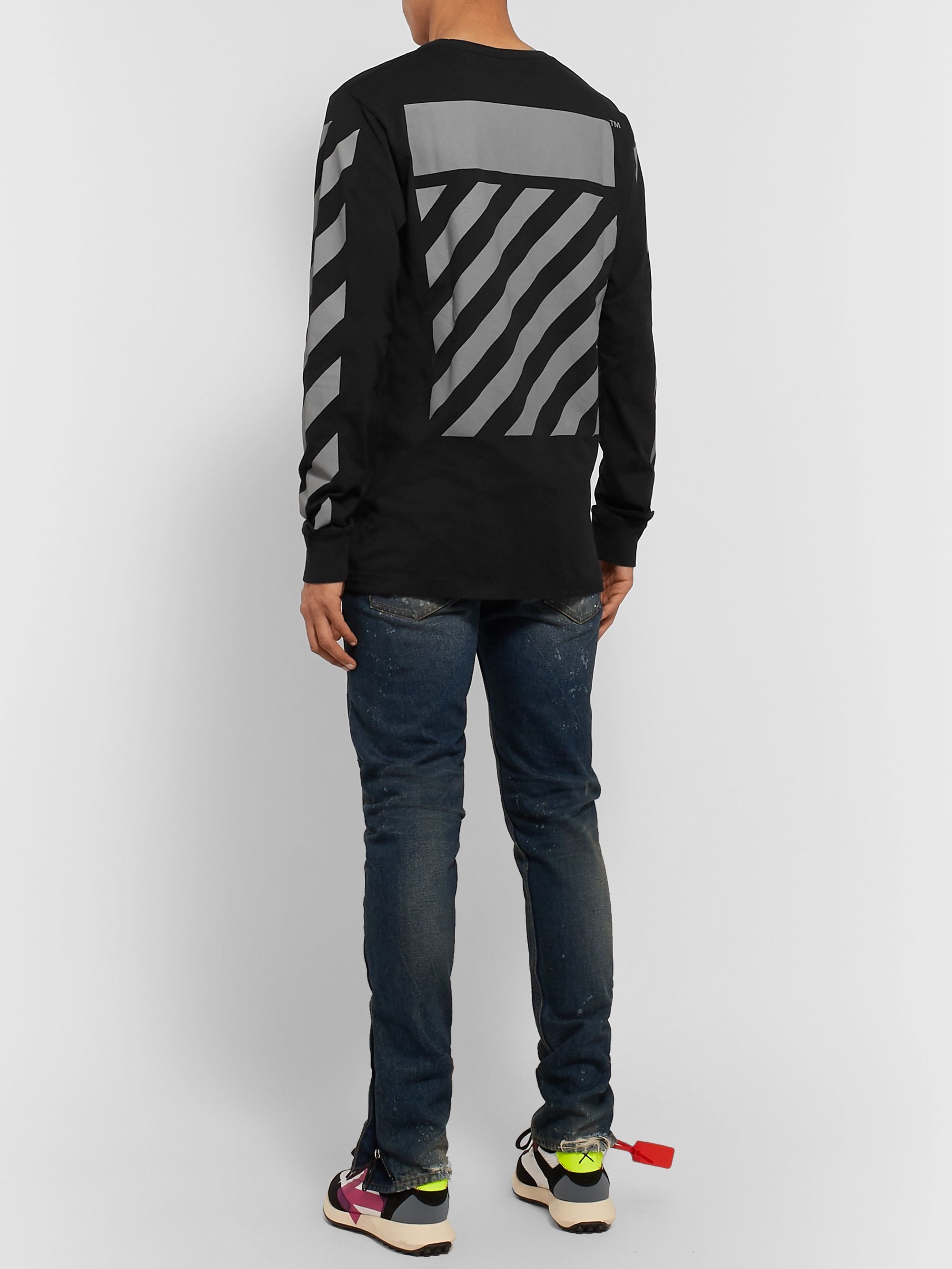 Off-White Glow-In-The-Dark Printed Cotton-Jersey T-Shirt