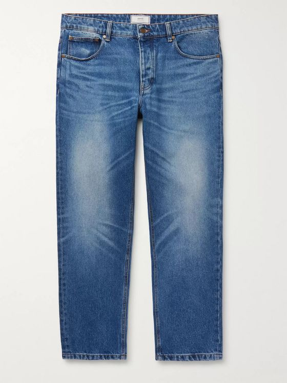 AMI Cropped Tapered Denim Jeans