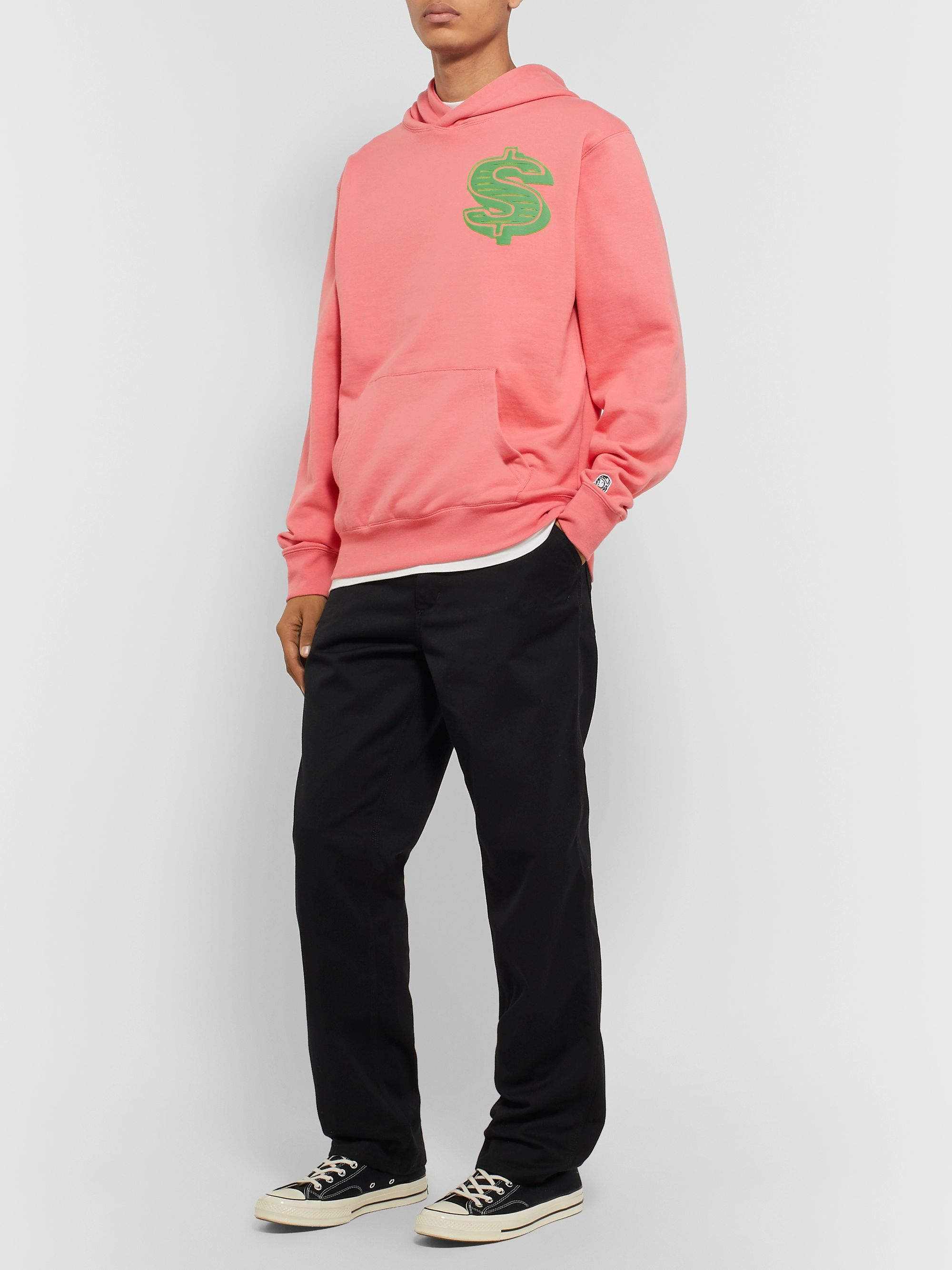 Billionaire Boys Club Printed Loopback Cotton-Jersey Hoodie