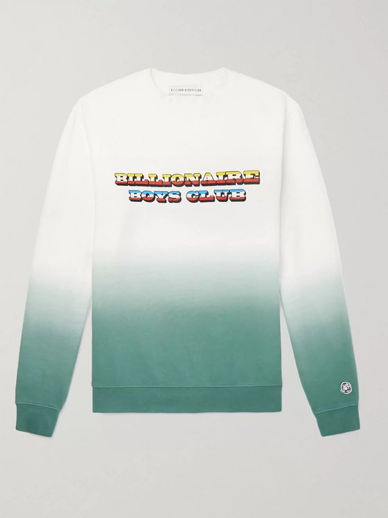 Billionaire Boys Club Logo-Print Dip-Dyed Loopback Cotton-Jersey Sweatshirt