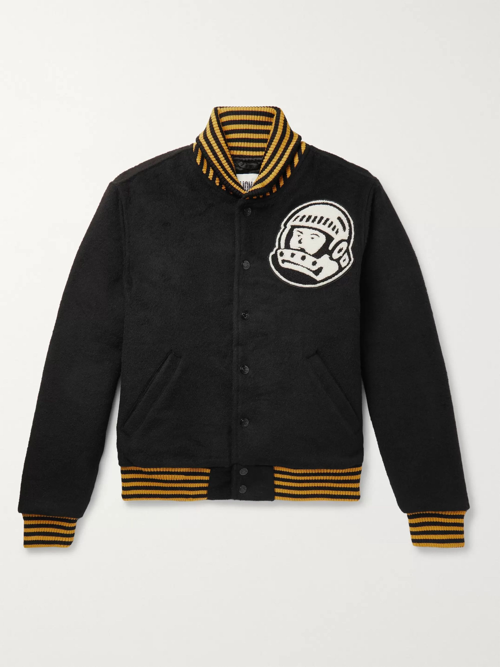 Billionaire Boys Club Astro Logo-Appliquéd Wool-Blend Bomber Jacket
