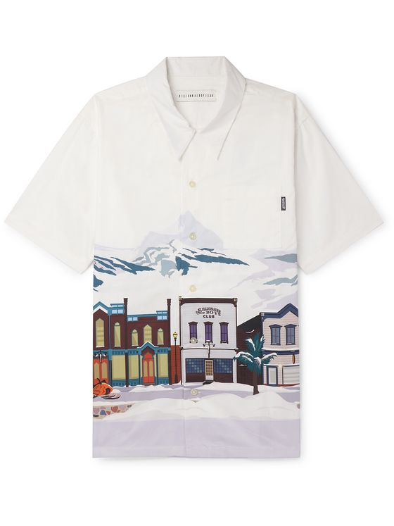 Billionaire Boys Club Camp-Collar Printed Cotton Shirt