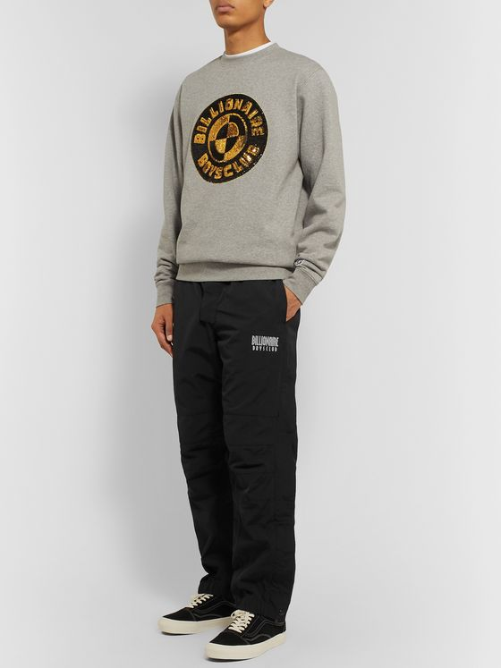 Billionaire Boys Club Tapered Logo-Print Tech-Canvas Track Pants
