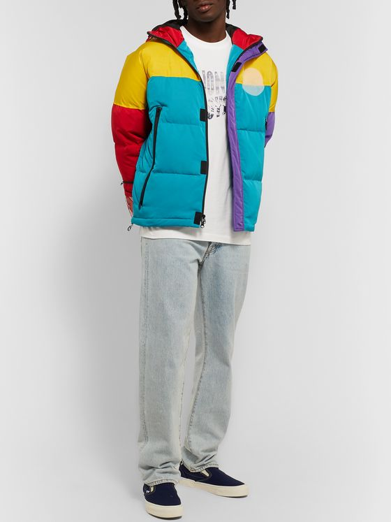 Billionaire Boys Club Logo-Appliquéd Colour-Block Shell Hooded Down Jacket