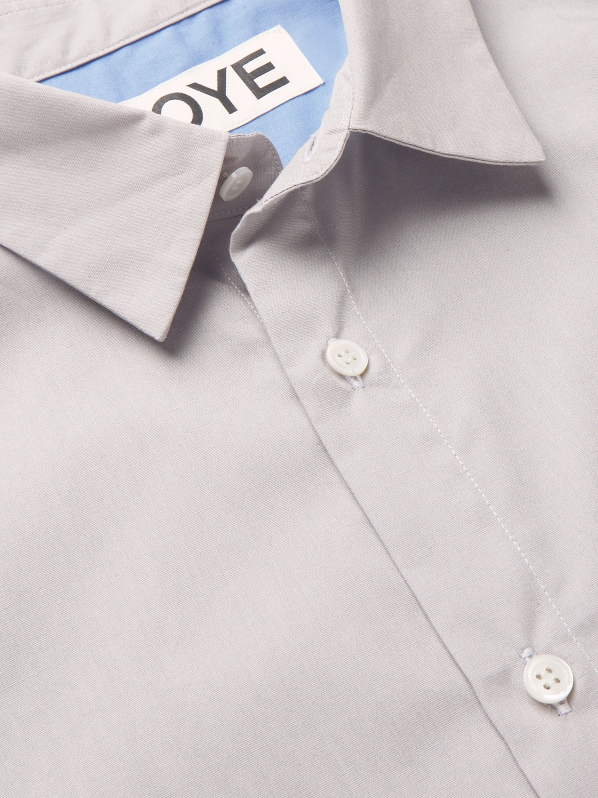 Aloye Colour-Block Cotton-Poplin Shirt