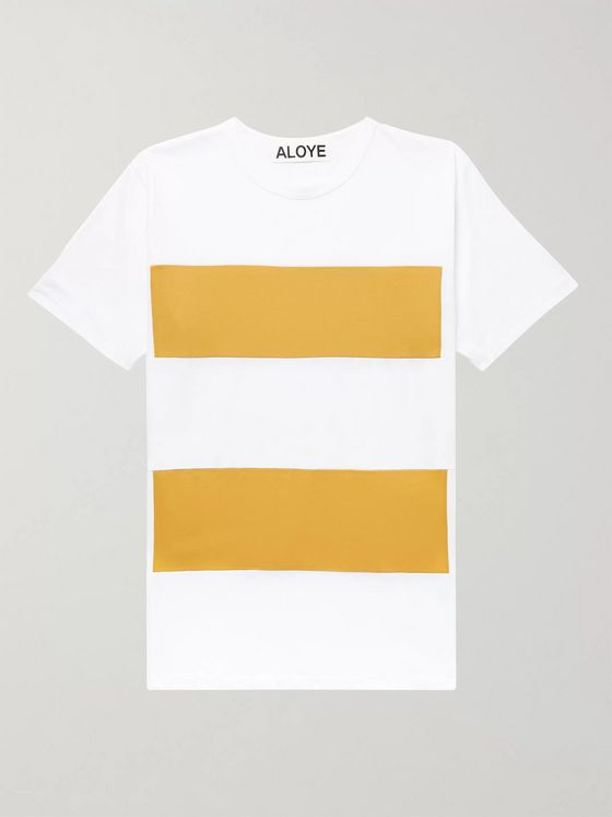 Aloye Slim-Fit Colour-Block Cotton-Jersey T-Shirt