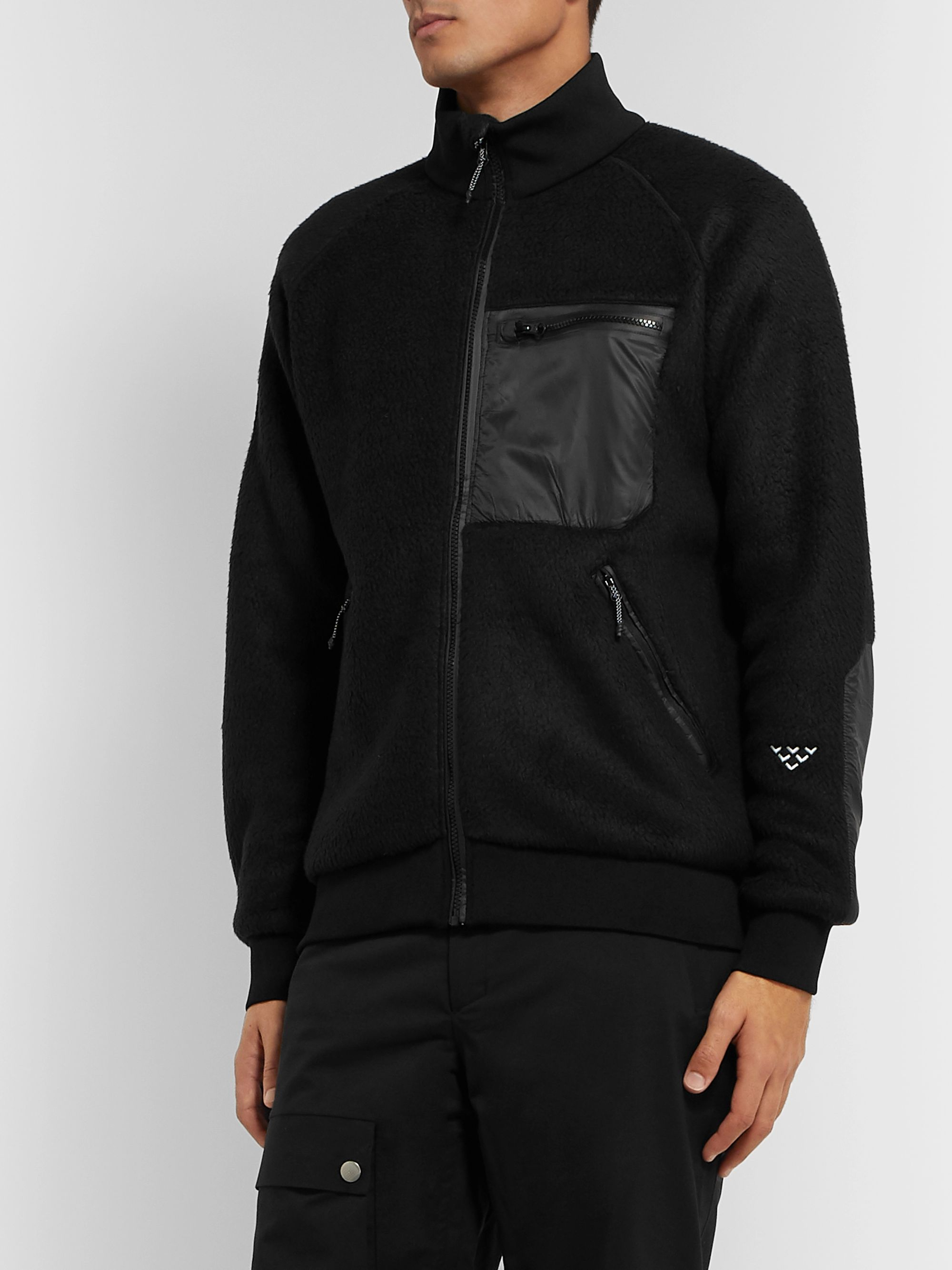 Black Crows Corpus Ripstop-Panelled Polartec Fleece Zip-Up Jacket