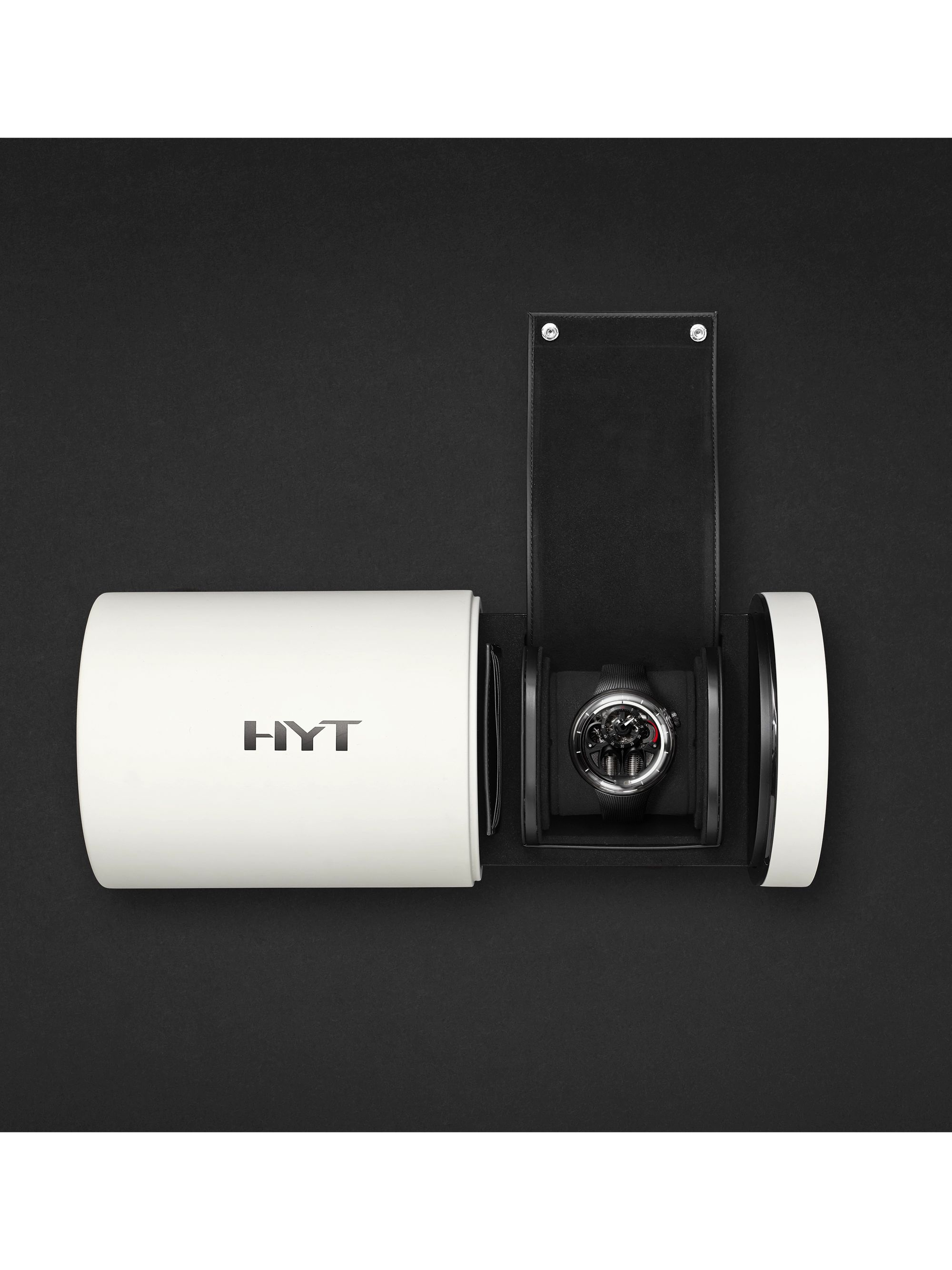 HYT H1.0 x MR PORTER Limited Edition Hand-Wound 48.8mm Stainless Steel and Rubber Watch, Ref No. H02361