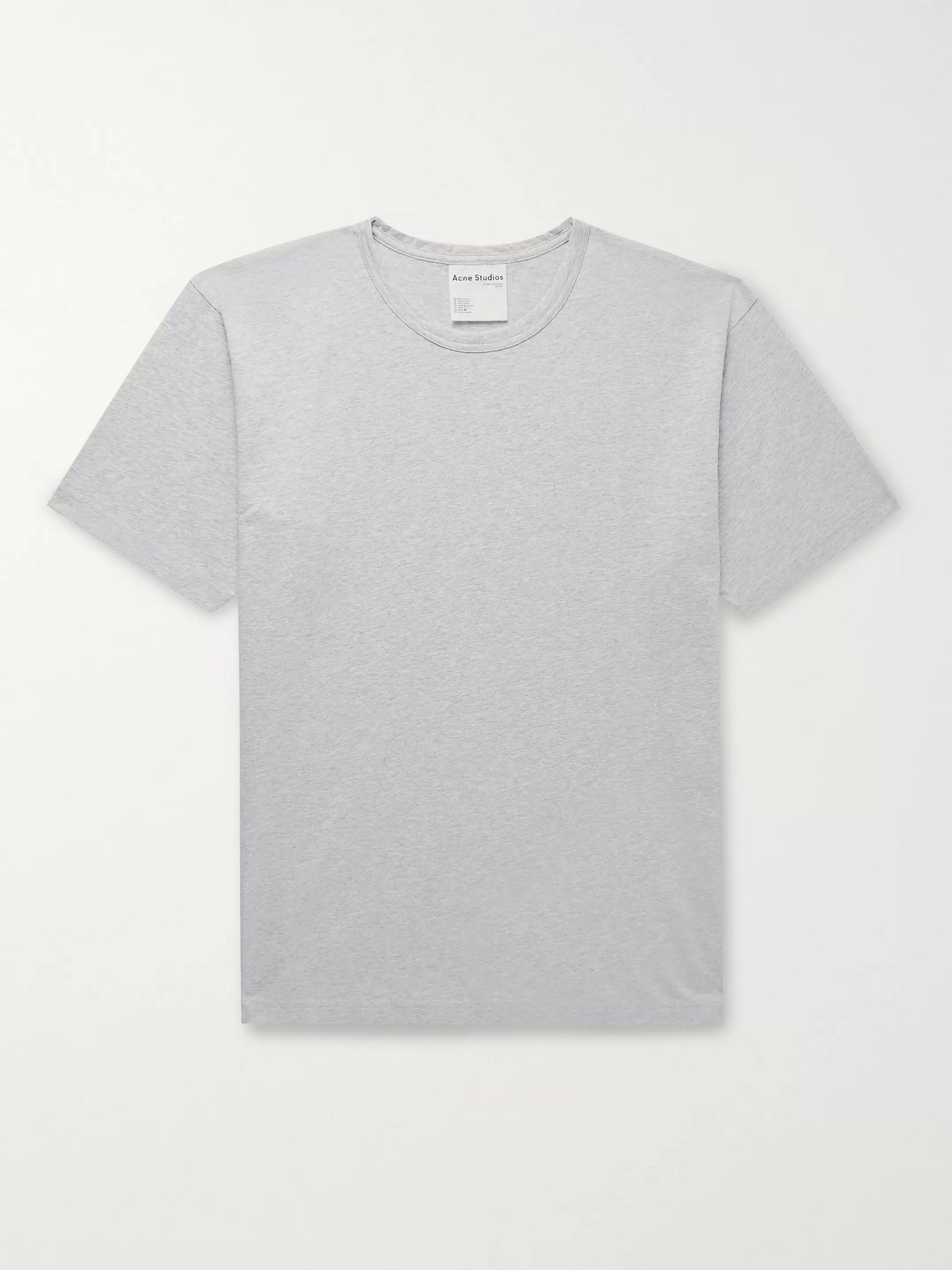 Acne Studios Mélange Cotton-Jersey T-Shirt