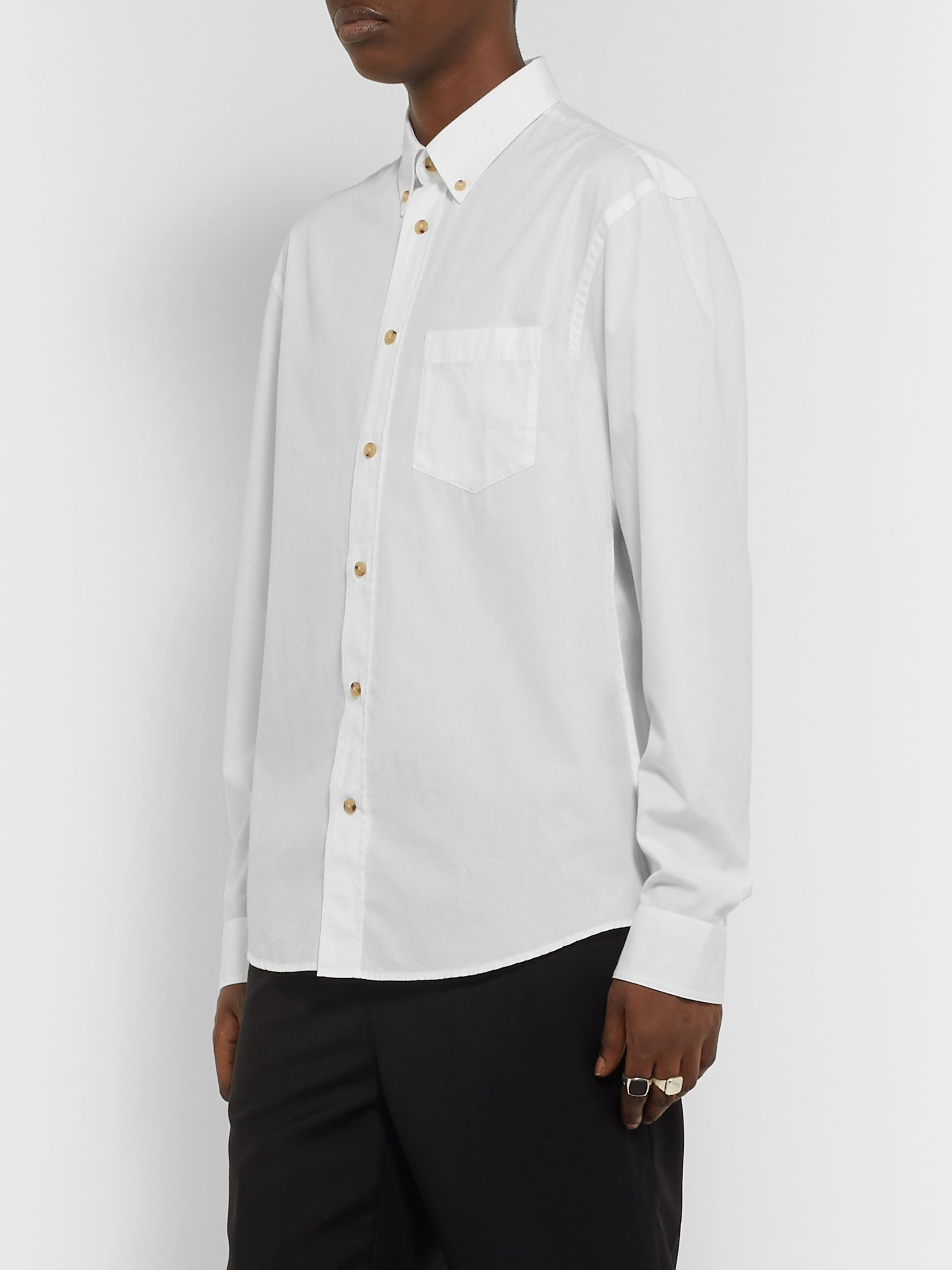 Acne Studios Button-Down Collar Cotton-Poplin Shirt