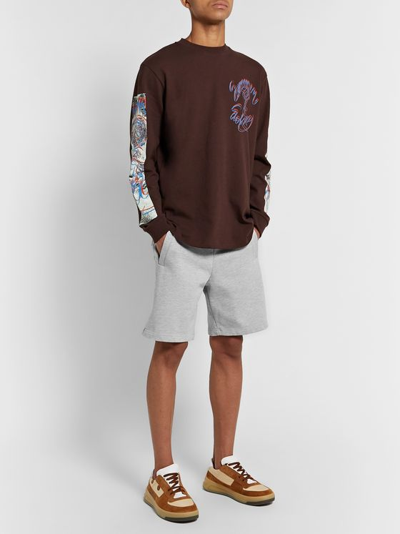 Acne Studios Slim-Fit Mélange Fleece-Back Cotton-Blend Jersey Shorts