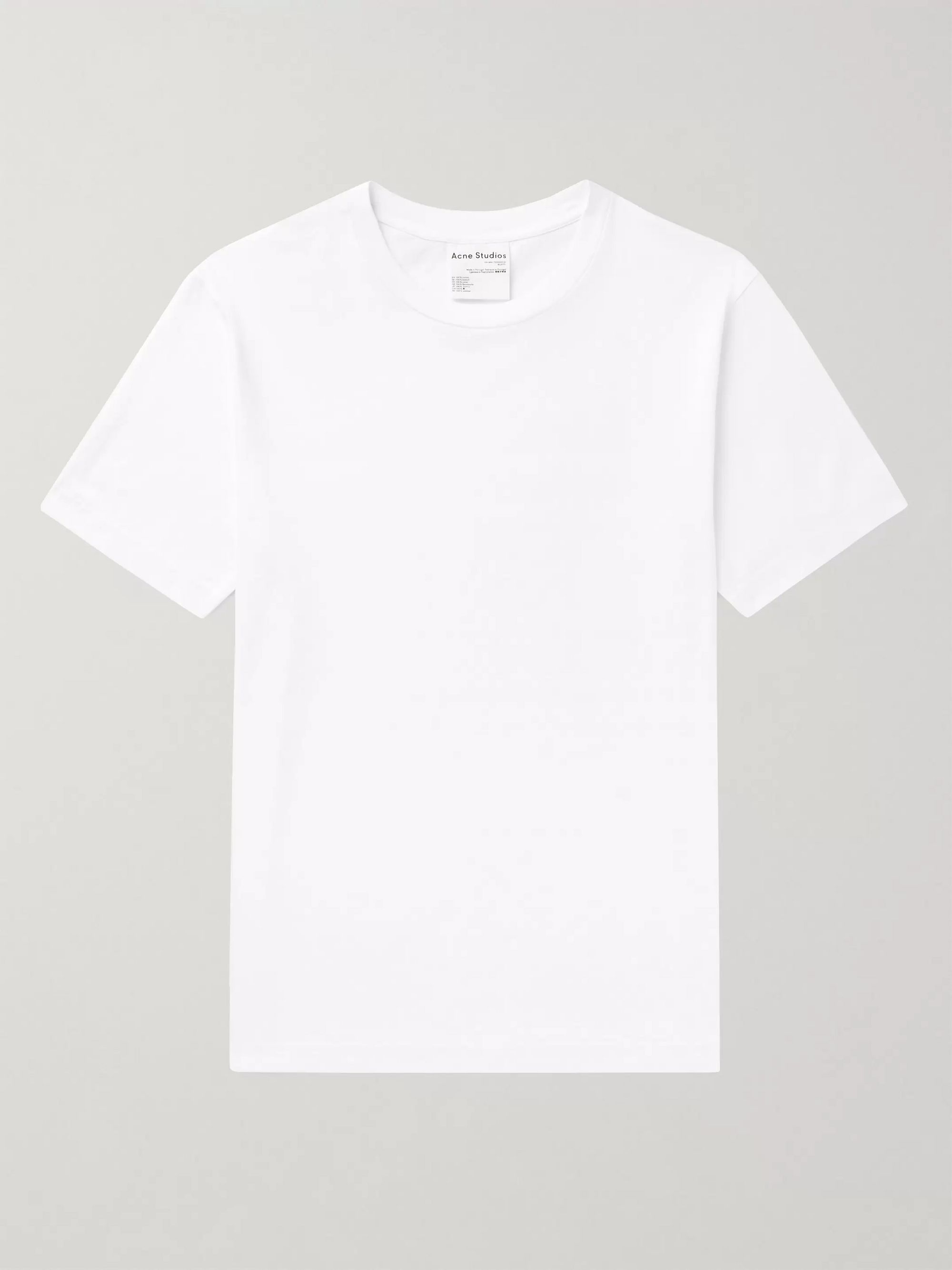아크네 스튜디오 Acne Studios Slim-Fit Cotton-Jersey T-Shirt,White