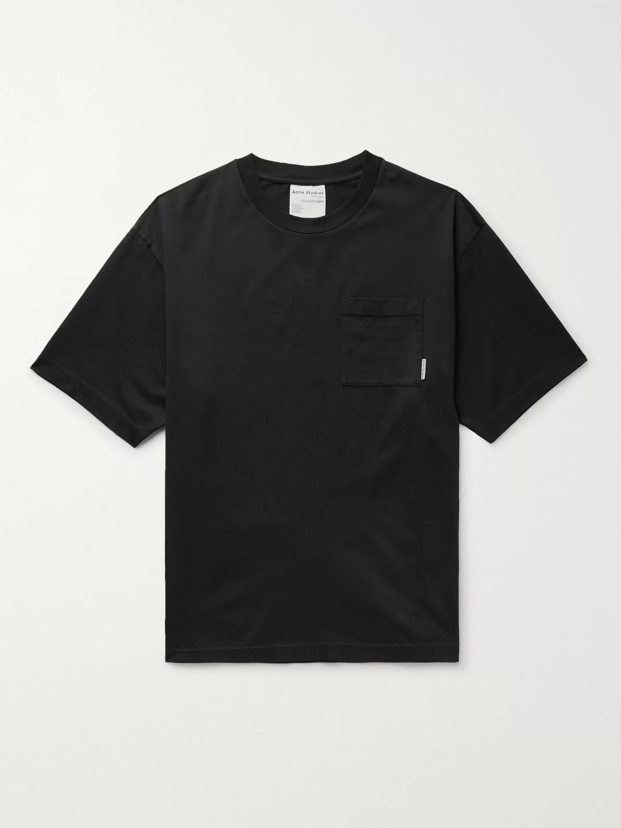 아크네 스튜디오 Acne Studios Oversized Cotton-Jersey T-Shirt,Black
