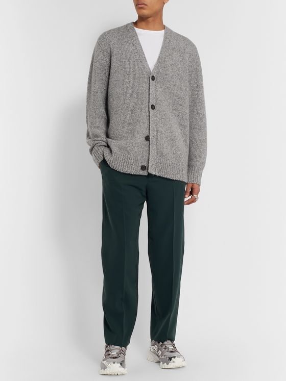 Acne Studios Ribbed Mélange Wool-Blend Cardigan
