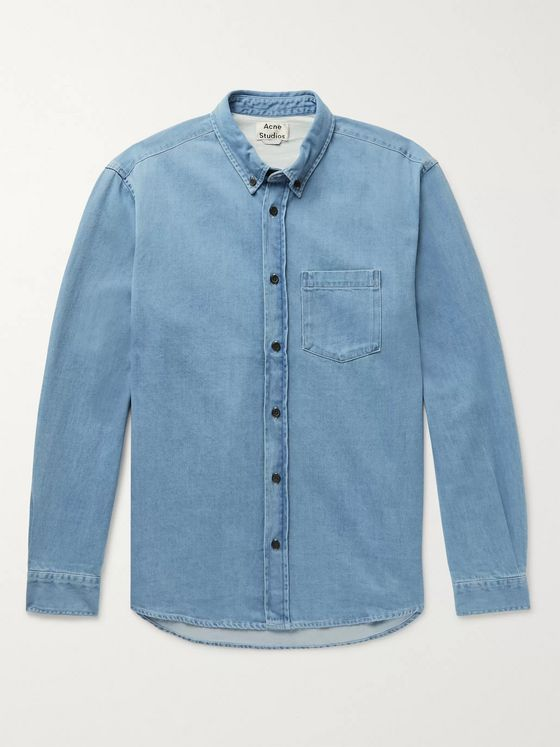 Acne Studios Slim-Fit Button-Down Collar Denim Shirt