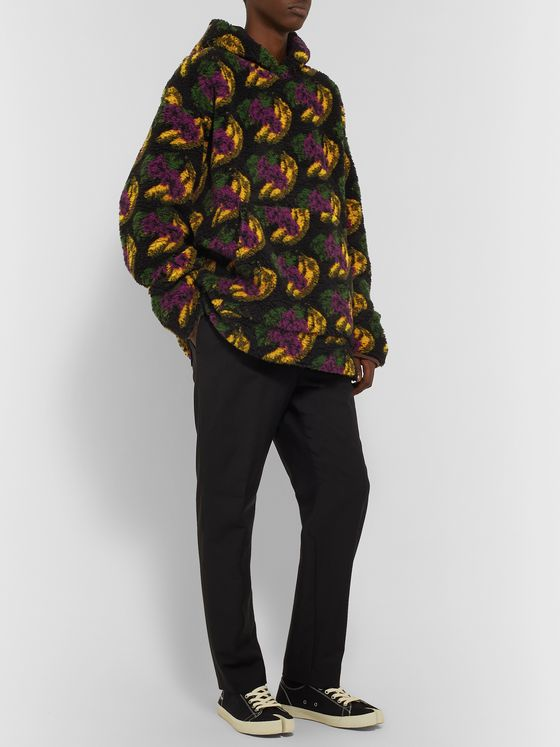 Acne Studios Oversized Printed Fleece Hoodie