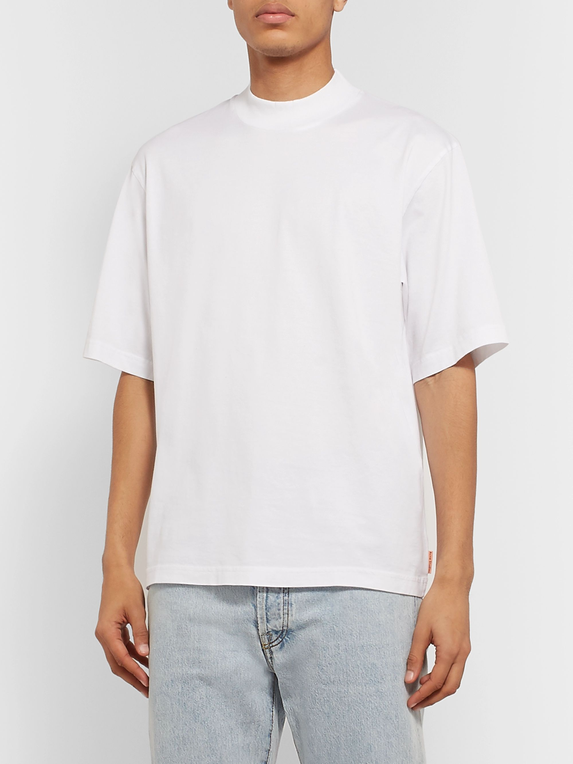 Acne Studios Esco Cotton-Jersey Mock-Neck T-Shirt