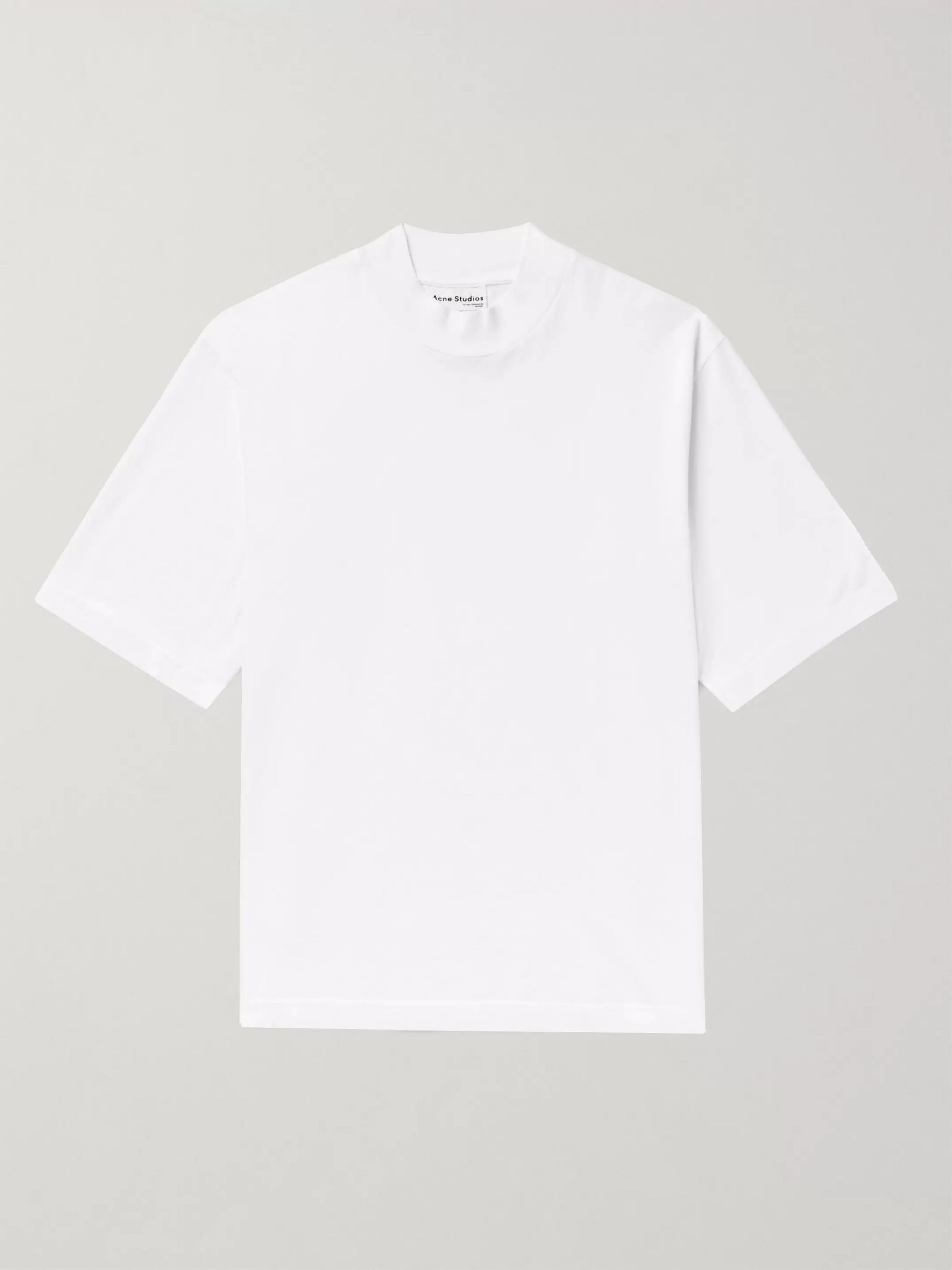 아크네 스튜디오 Acne Studios Oversized Cotton-Jersey T-Shirt,White