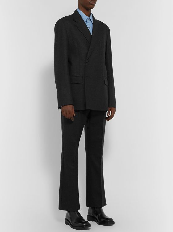 Acne Studios Double-Breasted Mélange Wool Blazer