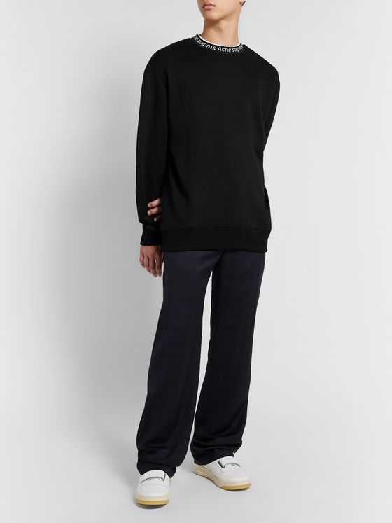 Acne Studios Logo-Jacquard Fleece-Back Jersey Sweatshirt