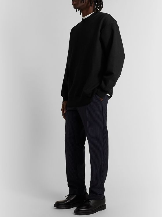 Acne Studios Oversized Fleece-Back Cotton-Blend Jersey Sweatshirt