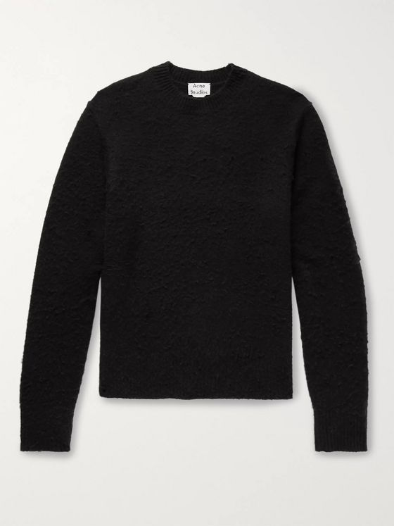 Acne Studios Peele Bobbled Wool and Cashmere-Blend Sweater