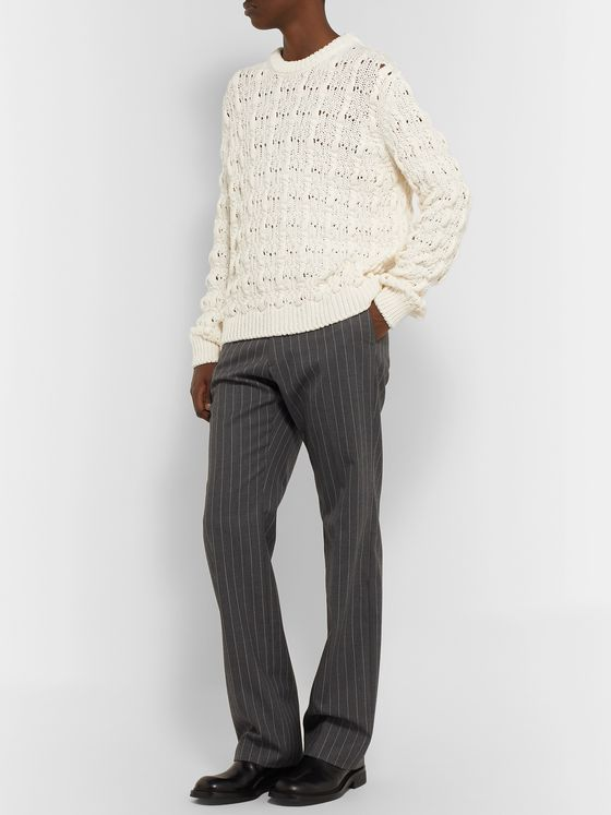 Acne Studios Cable-Knit Cotton-Blend Sweater
