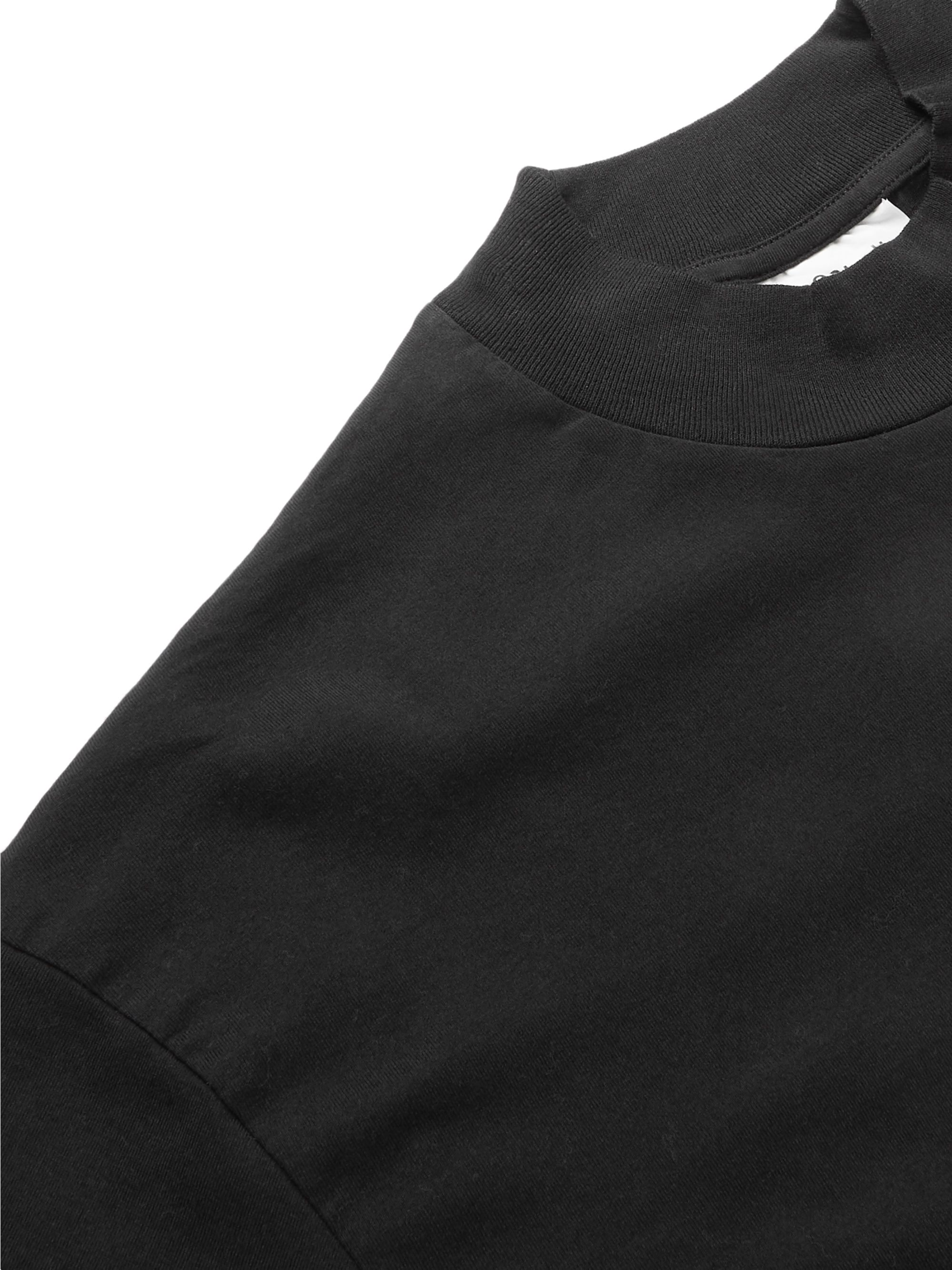 Acne Studios Cotton-Jersey Mock-Neck T-Shirt