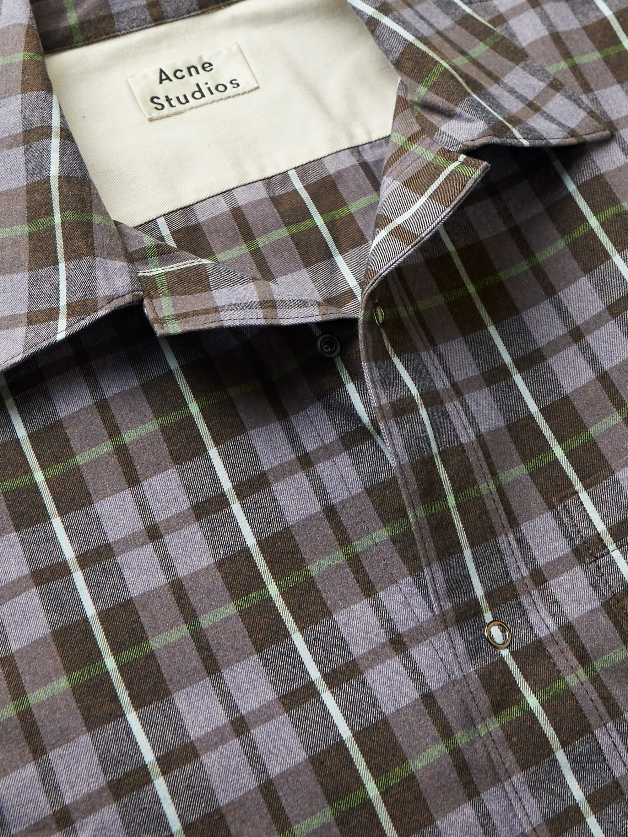 Acne Studios Checked Flannel Shirt
