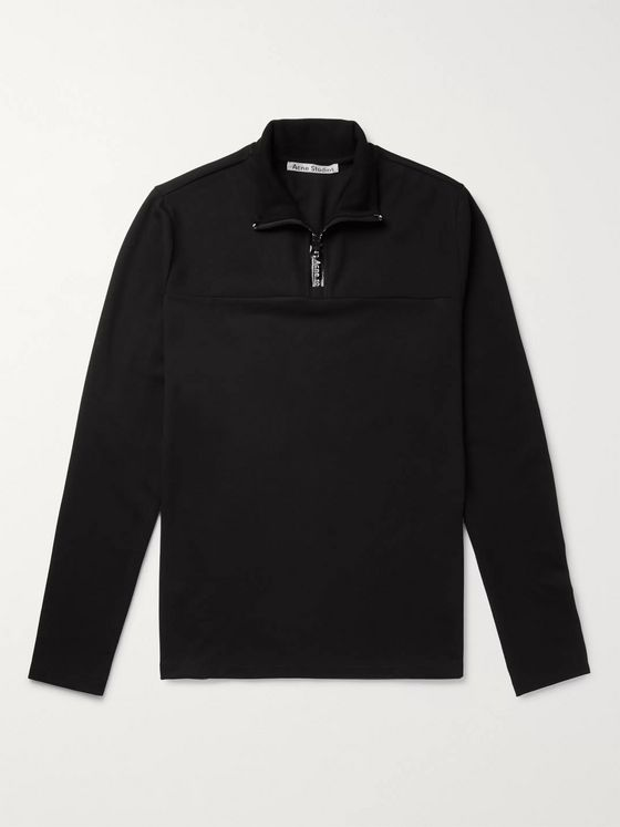 Acne Studios Stretch-Jersey Half-Zip T-Shirt