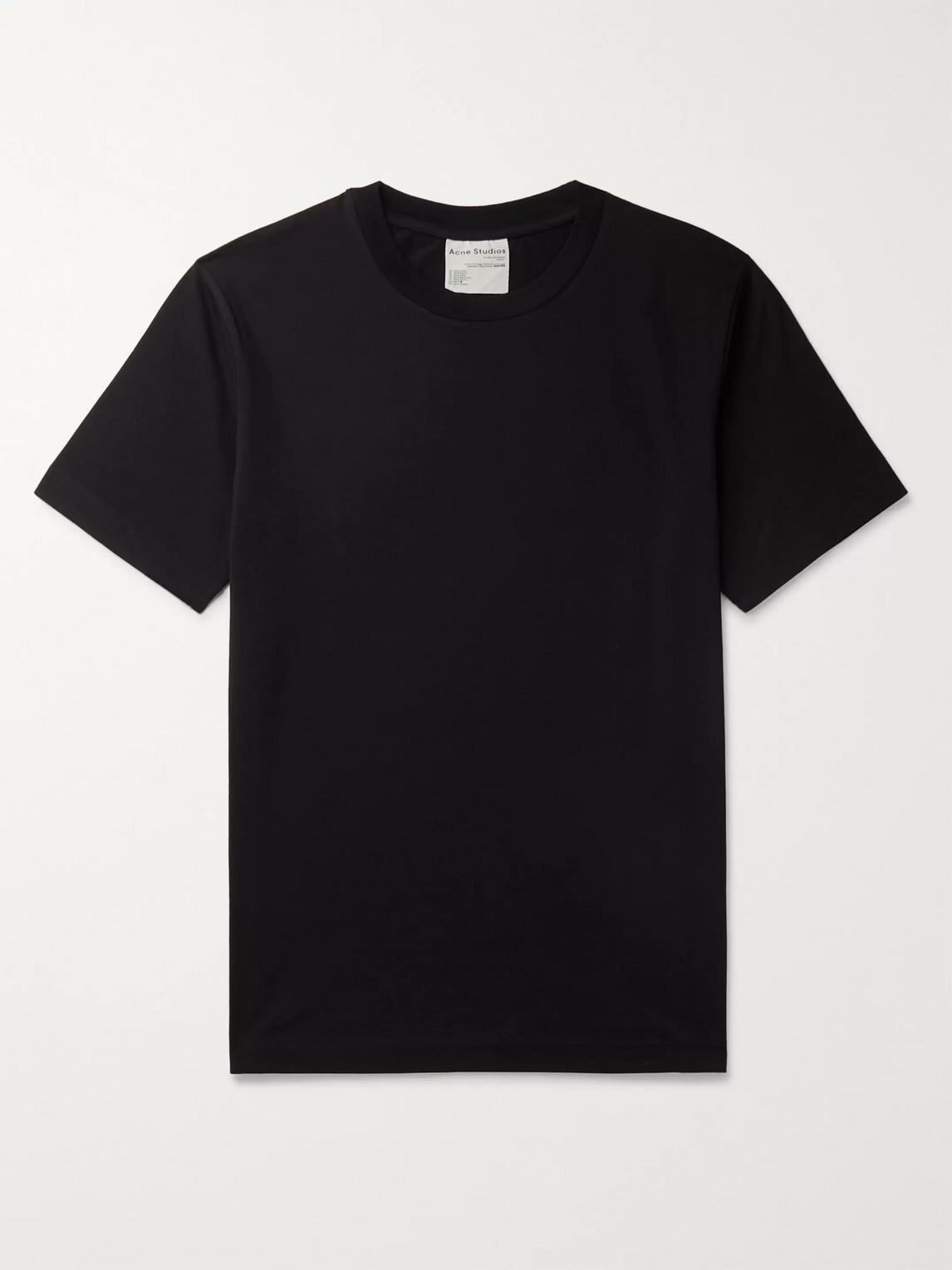 acne studios - slim-fit organic cotton-jersey t-shirt - men - black