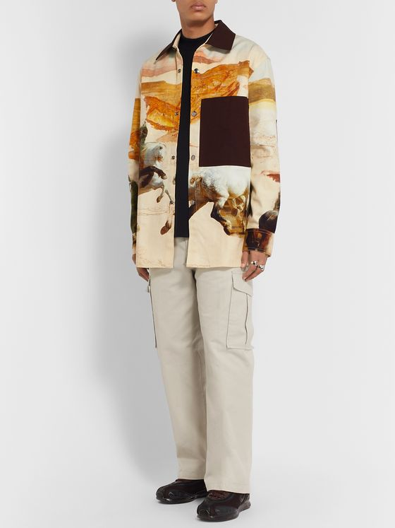 Acne Studios Printed Cotton-Canvas Overshirt