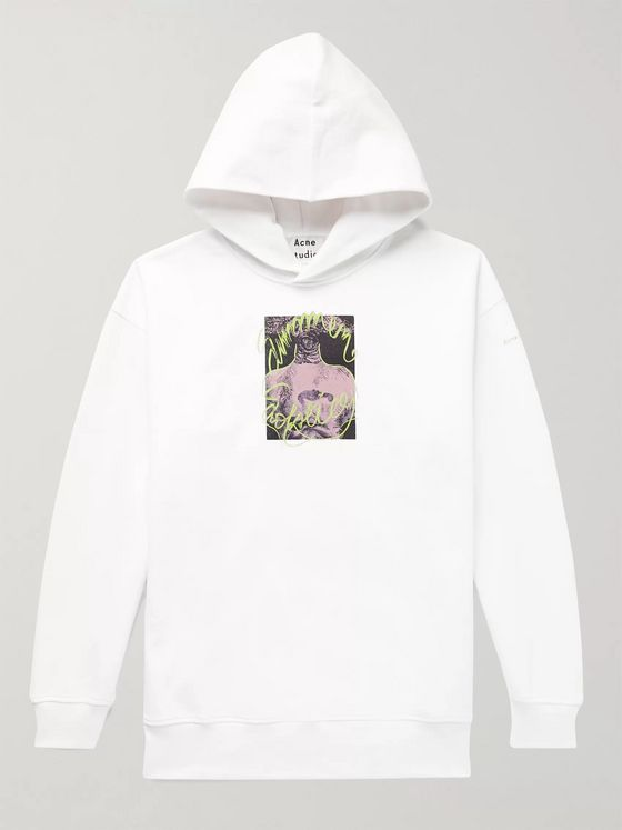 Acne Studios Oversized Printed Loopback Organic Cotton Jersey Hoodie