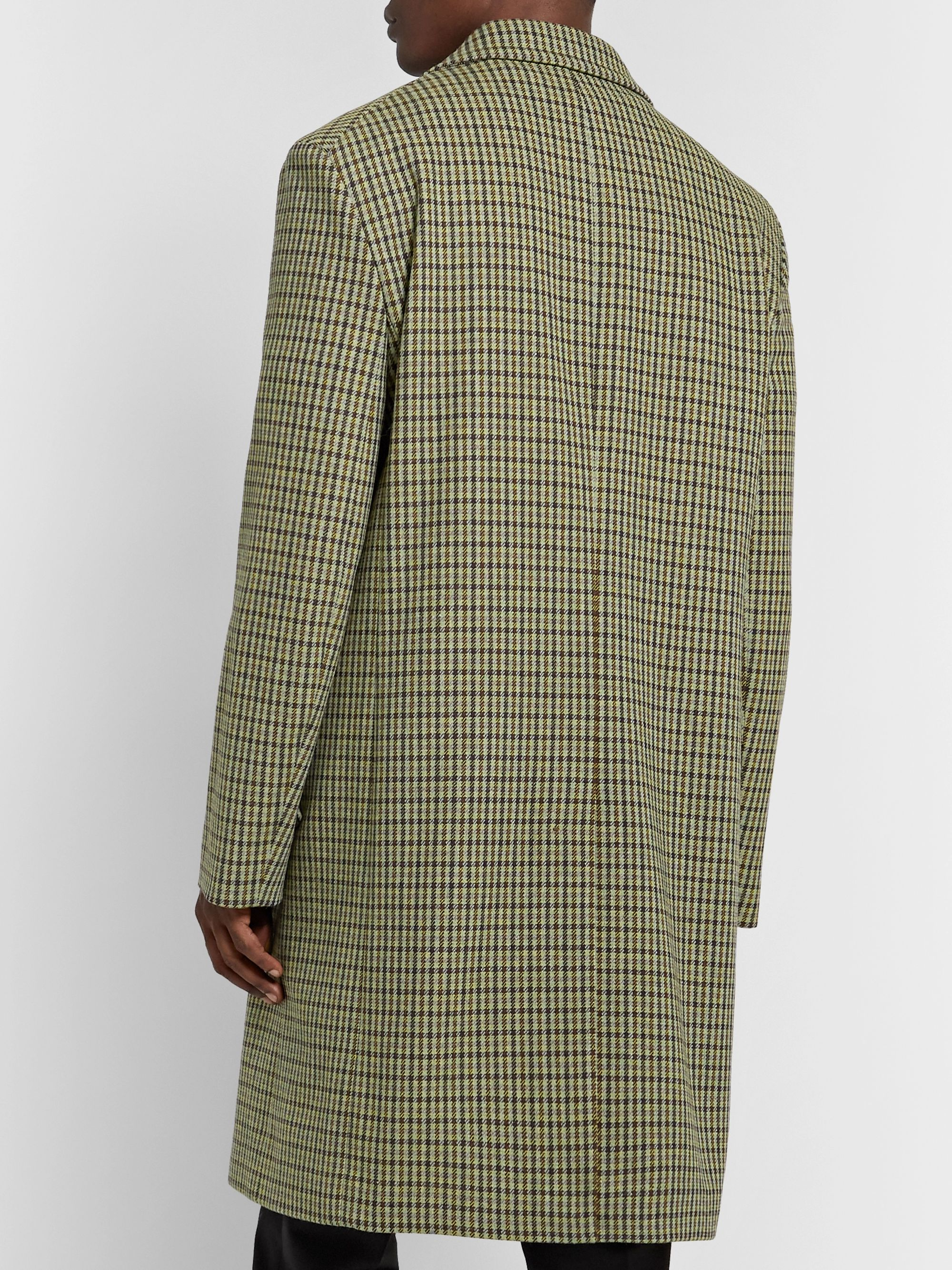 Acne Studios Vichy Houndstooth Wool-Blend Tweed Overcoat