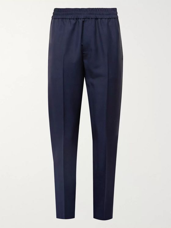 Acne Studios Black Ryder Wool and Mohair-Blend Trousers
