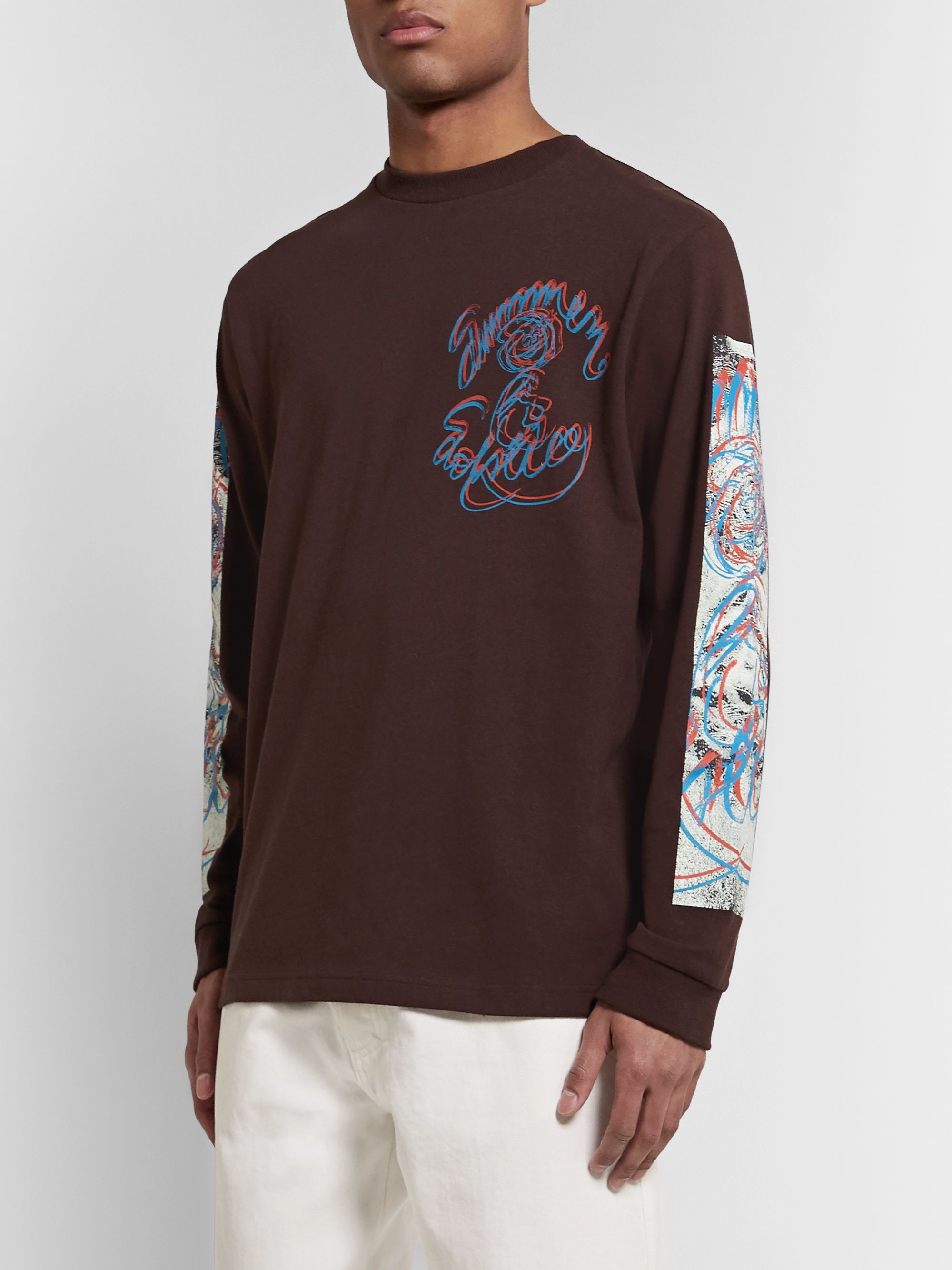 Acne Studios Printed Cotton-Jersey T-Shirt