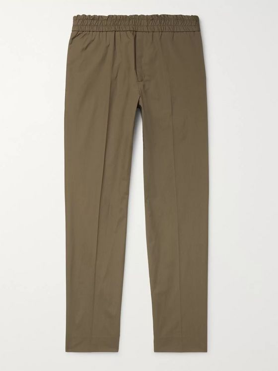 Acne Studios Tapered Washed Cotton-Twill Trousers