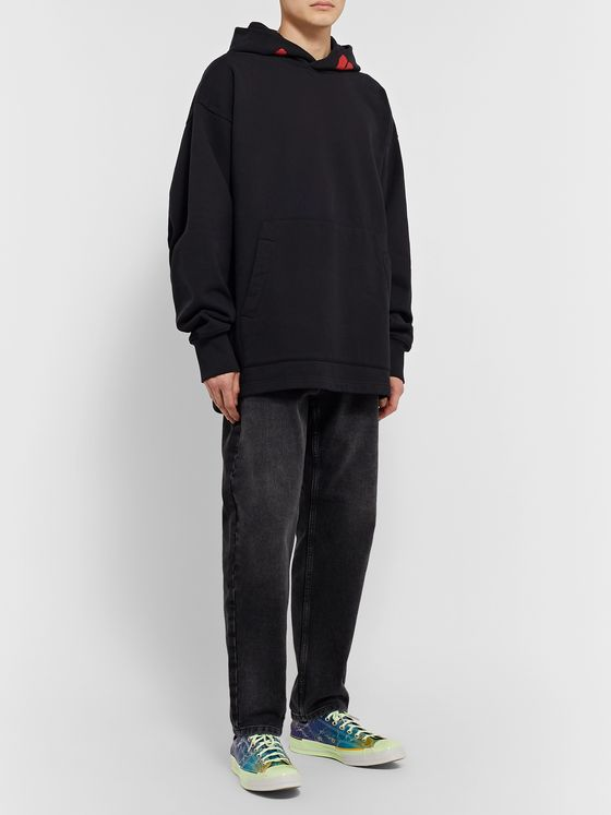ACNE STUDIOS + Monster in My Pocket Printed Fleece-Back Cotton-Jersey Hoodie