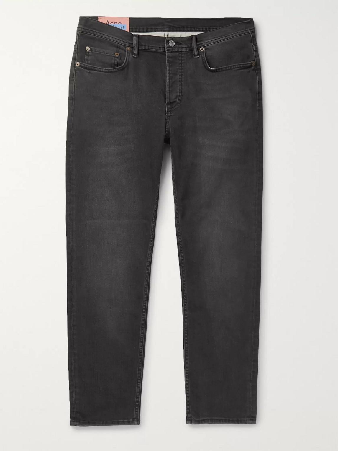acne studios - river stretch-denim jeans - men - black
