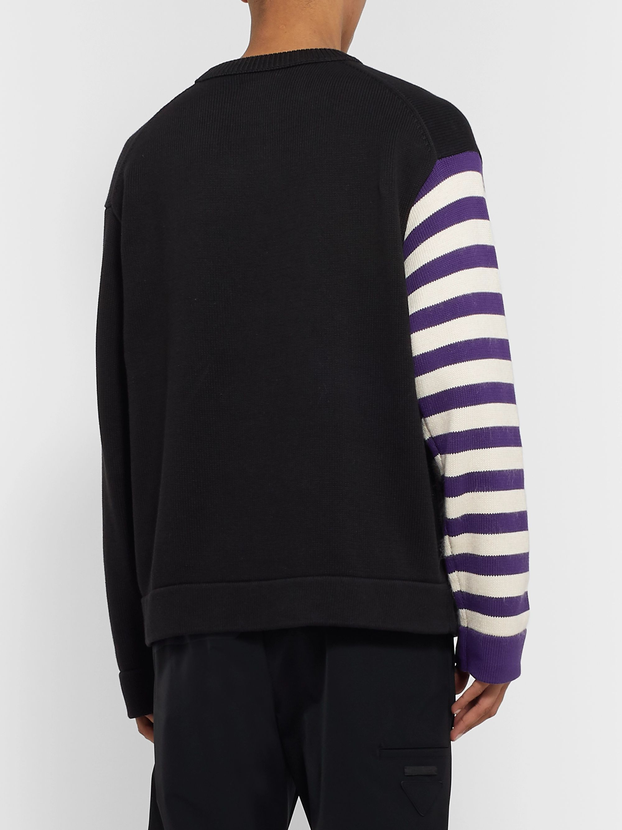 Acne Studios + Monster in My Pocket Konor Cotton and Wool and Cashmere-Blend Intarsia Sweater