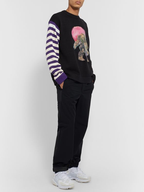 Acne Studios + Monster in My Pocket Cotton and Wool and Cashmere-Blend Intarsia Sweater