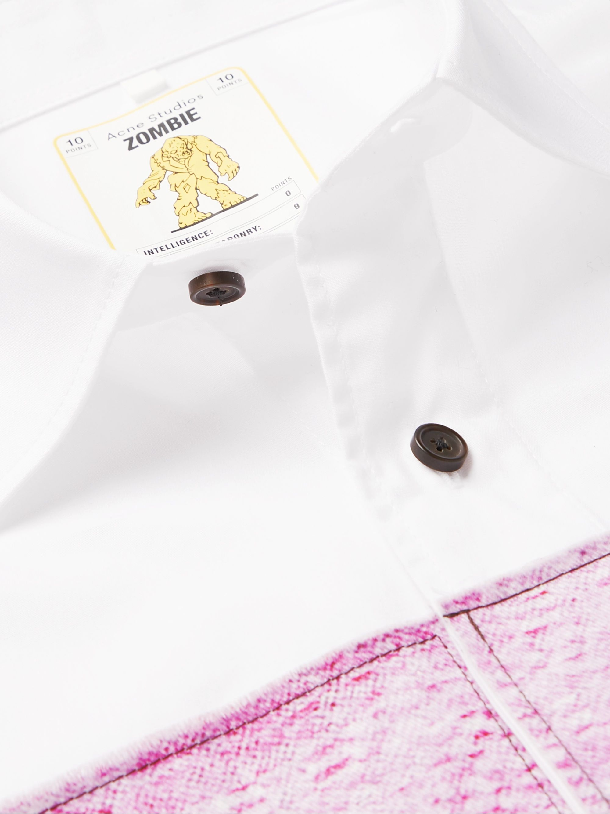 Acne Studios + Monster in My Pocket Atlent Oversized Appliquéd Cotton-Poplin Shirt